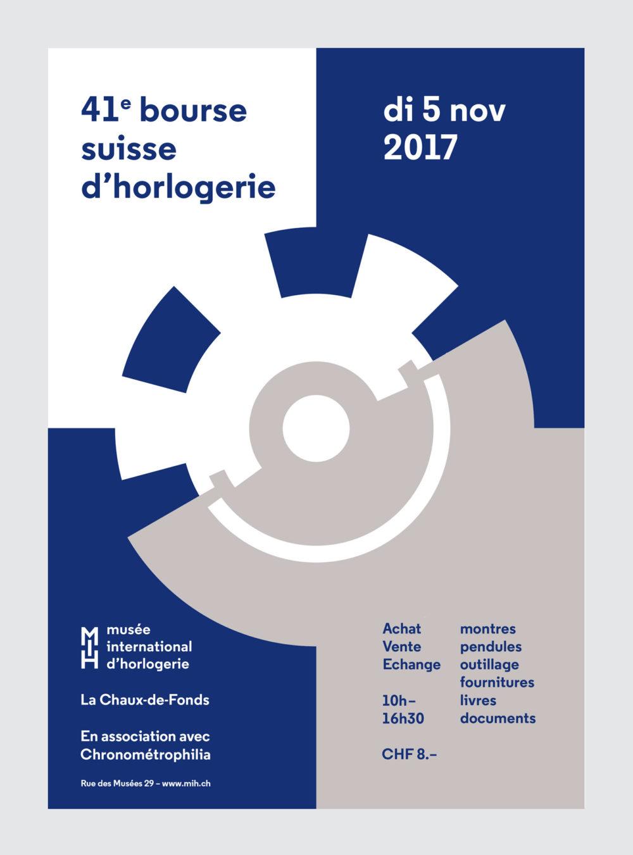 Bourse suisse d'horolgeriecommunication, affiche, flyer