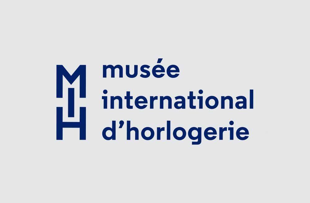 Musée international d'horlogerieidentité visuelle, dépliant institutionnel, plan guide
